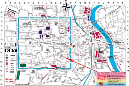 Chiang Mai Old City Accommodation - Hotels, Hostels & Apartments Map