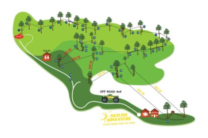 Skyline Adventure Chiang Mai Course Map